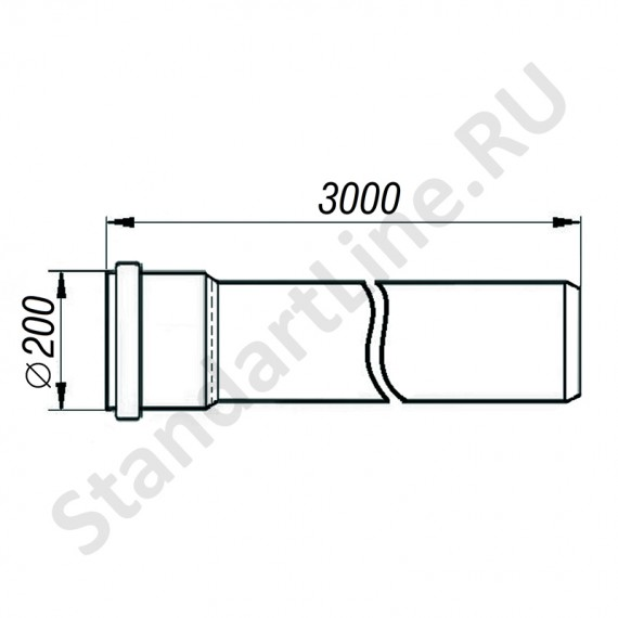 Труба для наружной канализации 200х3000 мм