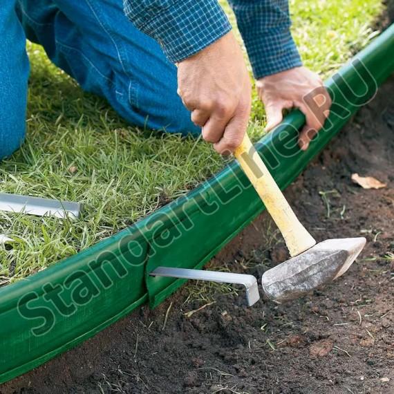 Бордюр Кантри MINI зеленый – 1000.2.14 - пластиковый L 10000  (арт. 82400-З)