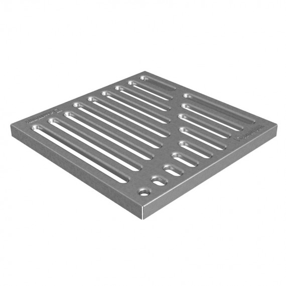 Решетка стальная штампованная Basic (оцинкованная) к дождеприемнику 300x300  (арт. 3310)