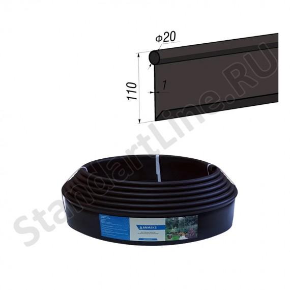Бордюр Кантри черный – 1000.2.11-пластиковый L 10000