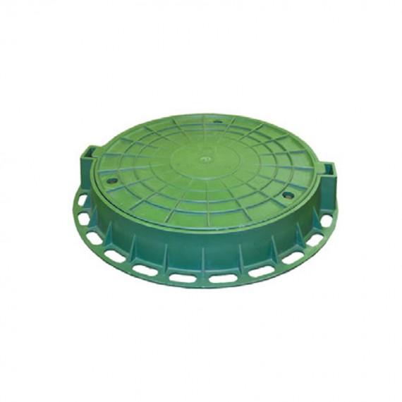 Люк ГОСТ 3634-99 пластиковый D 800 (зеленый)