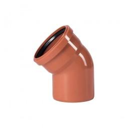 Отвод 110 мм 30° для наружной канализации