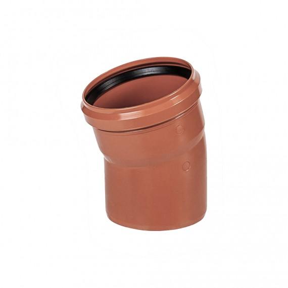 Отвод 110 мм 15° для наружной канализации