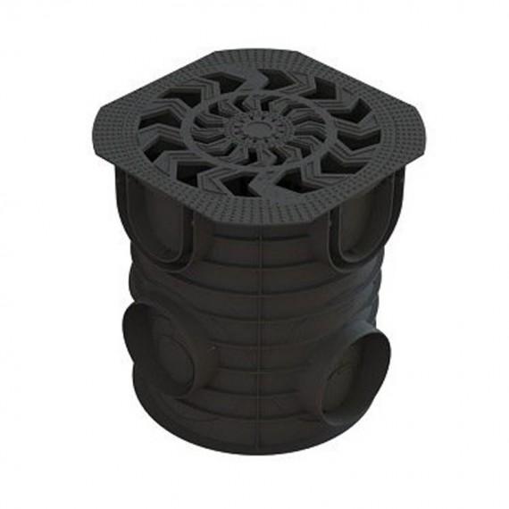 Комплект Дождесборник S'park ДС-25-ПП круглый пластиковый с решеткой водоприемной пластиковой кл. А  (арт. 083720)