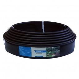 Бордюр Кантри MINI черный – 1000.1,5.8 - пластиковый L10000 мм, H80 мм