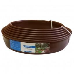 Бордюр Кантри MINI коричневый – 1000.1,5.8 - пластиковый L10000 мм, H80 мм
