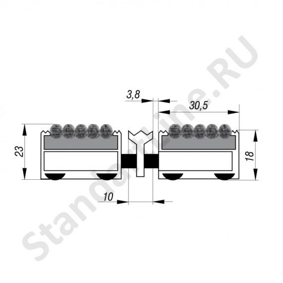 Придверная решетка Степ Текстиль+Скребок, A15  (арт. 30024)