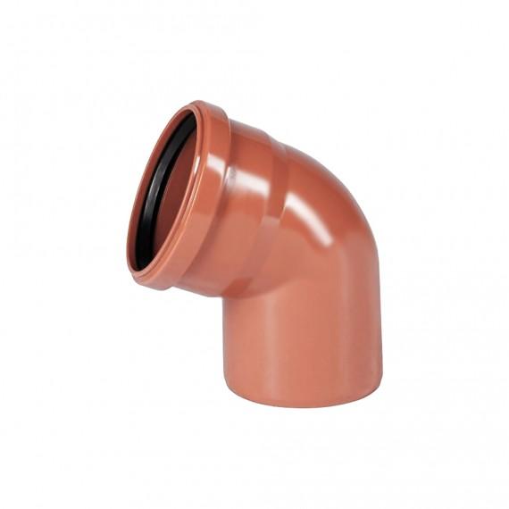 Отвод 110 мм 67° для наружной канализации