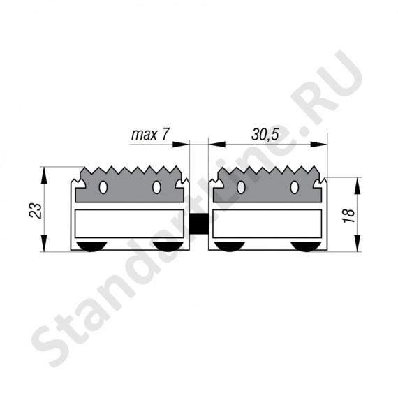 Придверная решетка Степ Резина,  A15  (арт. 30001)