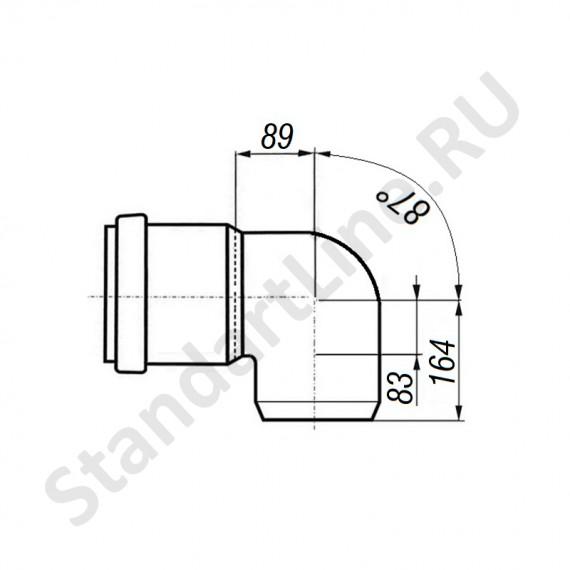 Отвод 160 мм 90° для наружной канализации