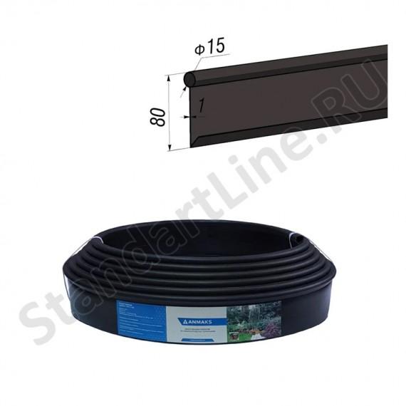 Бордюр Кантри MINI черный – 1000.1,5.8 - пластиковый L 10000  (арт. 82400-Ч)