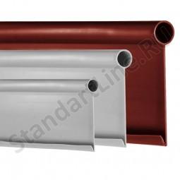 Бордюр Кантри MAXI коричневый – 1000.2.14 - пластиковый L 10000