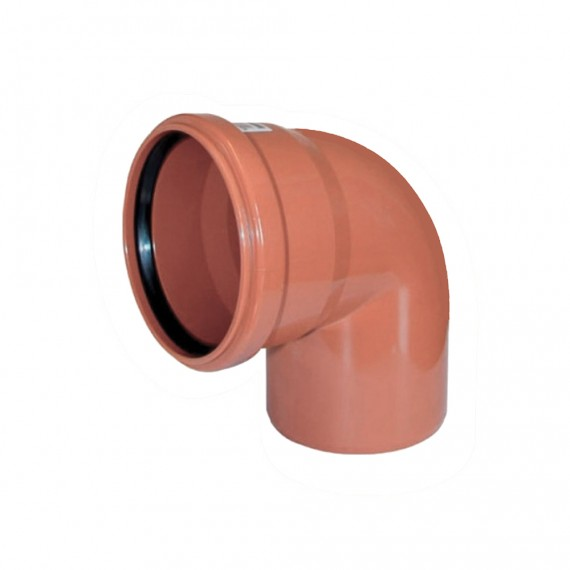 Отвод 110 мм 90° для наружной канализации