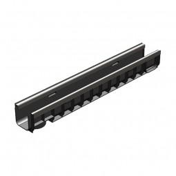 Лоток водоотводный Gidrolica Standart Plus ЛВ-10.14,5.12 - пластиковый (усиленный)