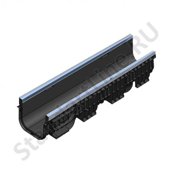 Лоток водоотводный PolyMax Basic ЛВ-20.26.20-ПП пластиковый усиленный 8547