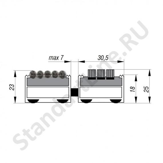 Придверная решетка Степ Бруш+Текстиль, A15  (арт. 30023)