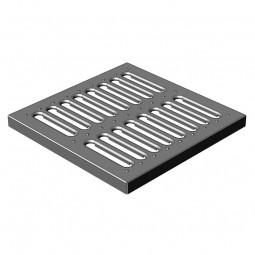 Решетка водоприемная Gidrolica Point РВ-28,5.28,5 — штампованная стальная оцинкованная, кл. А15