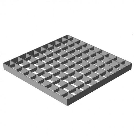 Решетка водоприемная Gidrolica Point 300х300 яч. стальная оцинк., B125  (арт. 206)