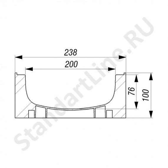 Лоток водоотводный Gidrolica Standart ЛВ-20.24,6.10 - пластиковый