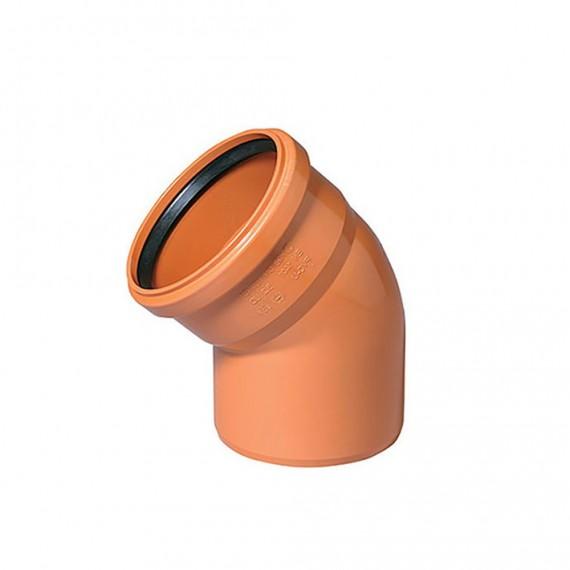 Отвод 200 мм 45° для наружной канализации
