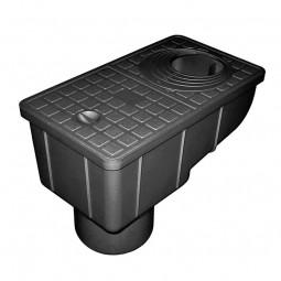 Трап уличный Gidrolica Rain ТУ-30.16,6.20 — пластиковый с крышкой глухой пластиковой