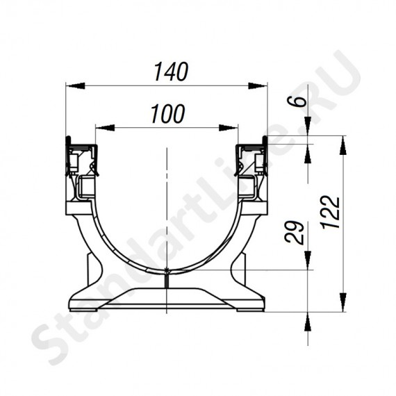 Лоток водоотводный PolyMax Basic ЛВ-10.16.12-ПП пластиковый усиленный 8027